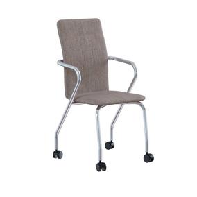 Cadeira De Escritório P-358 Linho Aço Búfalo Marrom Brigatto