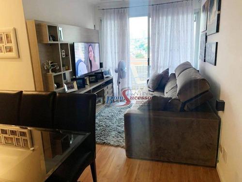 Imagem 1 de 11 de Apartamento Com 2 Dormitórios À Venda, 60 M² Por R$ 470.000,00 - Jardim Anália Franco - São Paulo/sp - Ap2653