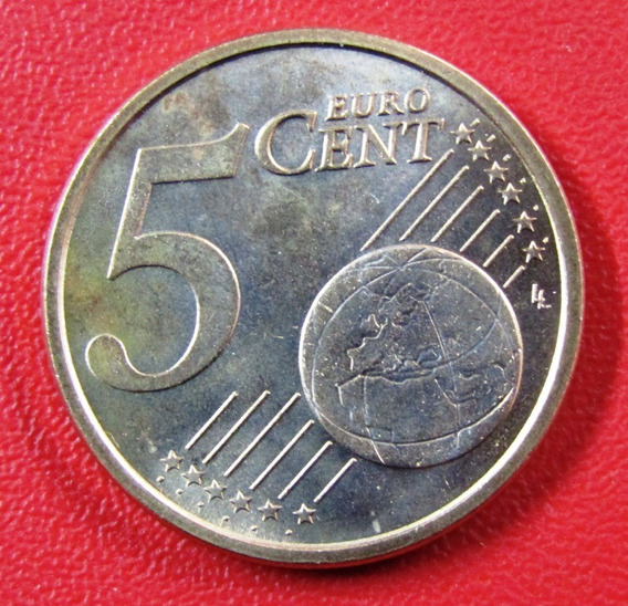 Italia Moneda 5 Centavos 2005 Unc Km #212