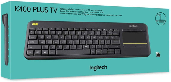 Teclado Sem Fio Logitech K400 Plus Com Touchpad