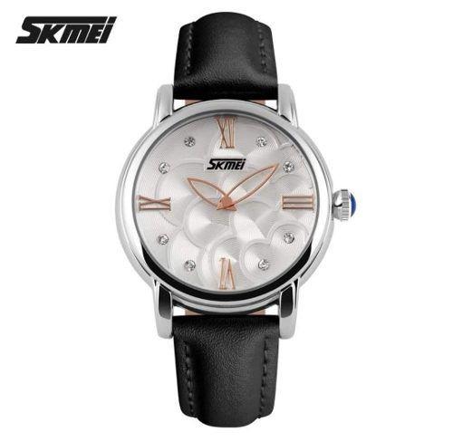 Relógio Feminino Skmei Original Elegante Couro Brinde Caixa