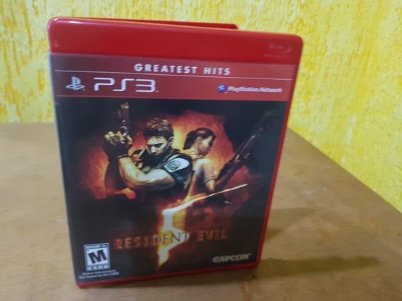 Resident Evil 5 Usado Original Manuais Ps3 Midia Física