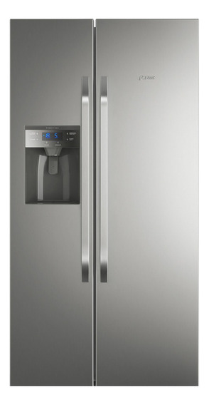 Refrigerador No Frost 504l Side By Side Inox Com Dispensador