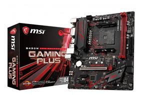 Placa Mae Msi B450m Gaming Plus Amd Am4 Ddr4 B450
