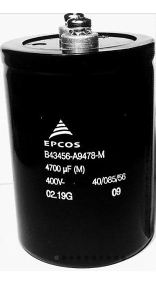 Cap. Eletrolitico 4700uf 400v Giga 85º B43456a9478m Promoção