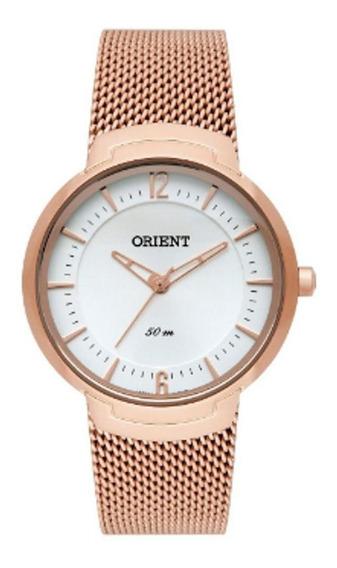 Relógio Orient Rose Gold Slim Feminino Frss0038 S2rx