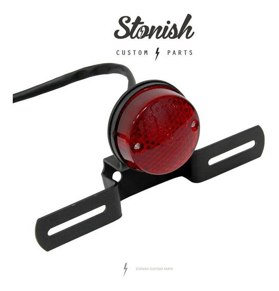 Lanterna Moto Redonda Vintage + Suporte, Cafe Bobber Chopper