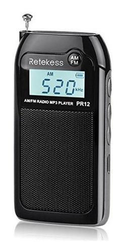 Pr12 Mini Am Fm Radio Con Altavoz Transistor Portátil Recar