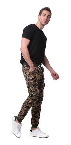 Pantalónes Hombre Slimfit Ajustable Bolsillo Color Sólido