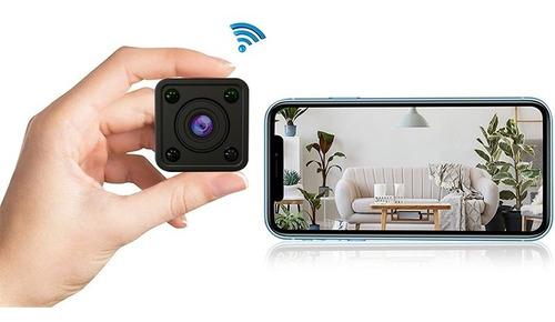 Imagem 1 de 7 de Mini Câmera Espiã Wi-fi Bateria Hd 1080p Sem Fio Mycam