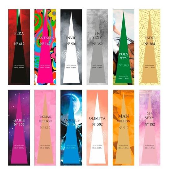 Kit 36 Perfumes Internacionais Revenda Atacado Promoção Ref2