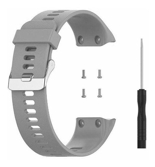 Pulseira De Silicone Cinza Para Relógio Garmin Forerunner 35