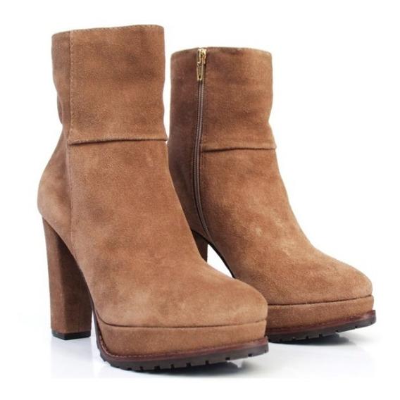 Bota Feminina Solado Tratorado Block Heel Salto Bloco 57021