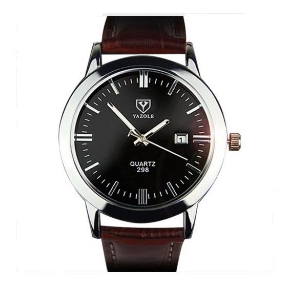 Relógio Masculino Pulseira De Couro Original