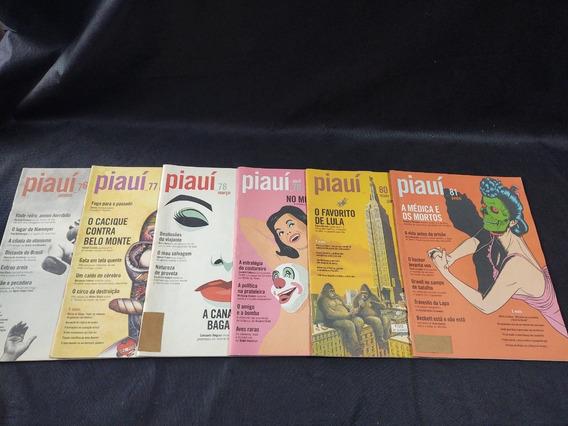 Coleção 12 Revistas Piaui Ano 08 Janeiro 076 A Dezembro 087
