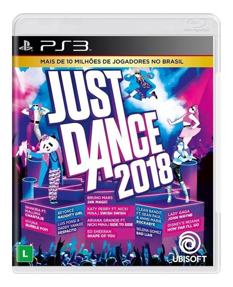 Just Dance 2018 Ps3 Mídia Física Novo Lacrado