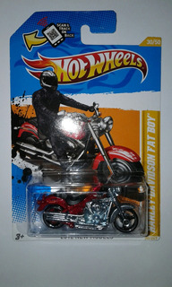 Hot Wheels Moto Harley Davidson Fatboy 1/64 2012 Carro Auto