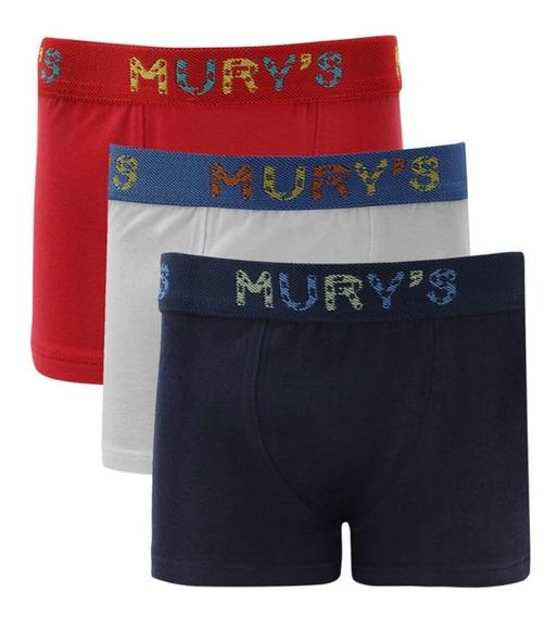 Kit 3 Cuecas Boxer Infantil Kids