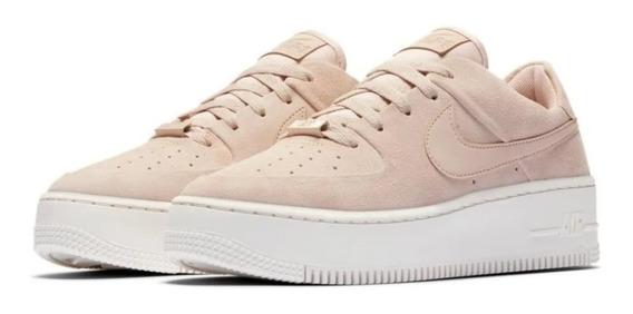 Zapatillas Nike Air Force 1 Sage Low Gamuza Beige