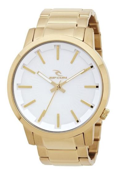 Relógio Rip Curl Detroit Gold A2561 Dourado Branco