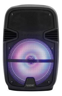 Parlante Portatil Bluetooth Gadnic Luces Mics Usb Aux