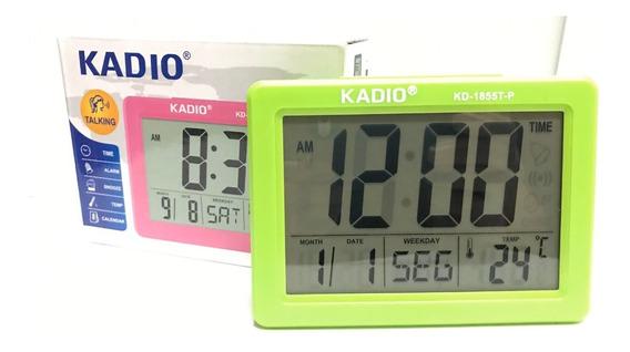 Relógio Despertador Mesa Deficiente Visual Idoso Fala Hora 2