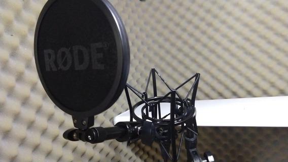 Kit Pra Microfone Rode (novo) Sm6 Shock Mount+popfilter Orig