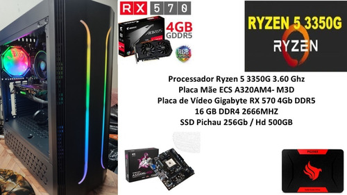 Pc Gamer Ryzen 5 3350g 16gb Rx 570 4gb