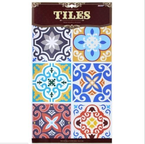 Azulejos Hidráulicos Adhesivos C/u 15x15cm - 6 Pc -crfyc1004