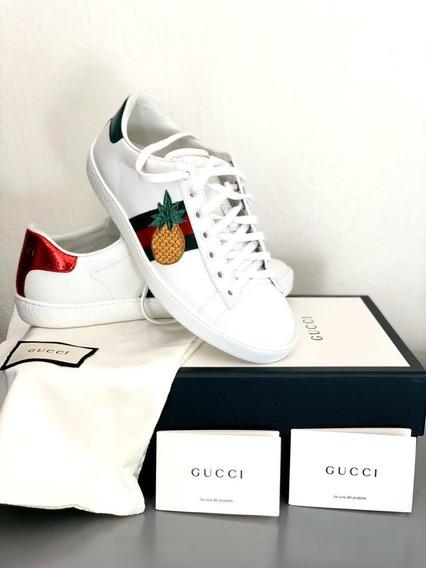 Tenis Gucci Nuevos Originales Piña Y Catarina