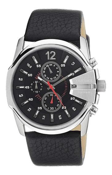 Reloj Diesel Acero Inoxidable Y Cuero Genuino Dz4182