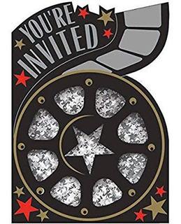 Tarjetas Invitacion Hollywood Recuerdos Cotillón Y