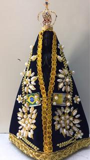 Nossa Senhora Aparecida Imagem Resina Réplica Original 20cm
