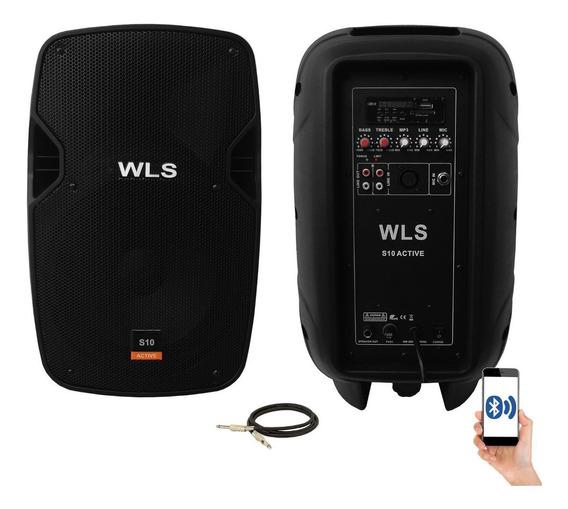 Kit Caixa De Som Ativa Passiva Wls S10 Bluetooth 250w Rms