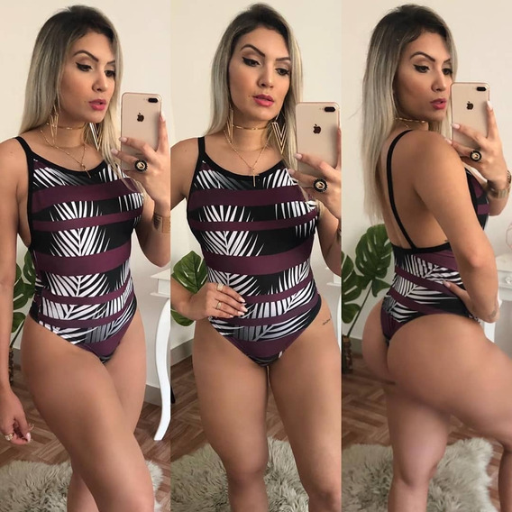 Body Feminino Sem Bojo Maiô Cavado Piscina Biquini Ref 995b Bmgs