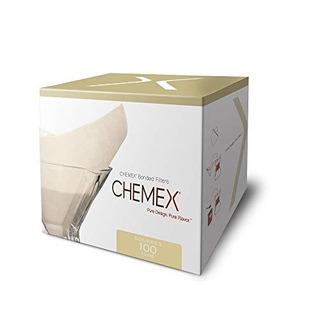 Filtros De Cafe Clasicos Chemex, Cuadrados, 100 Ct - Embalaj