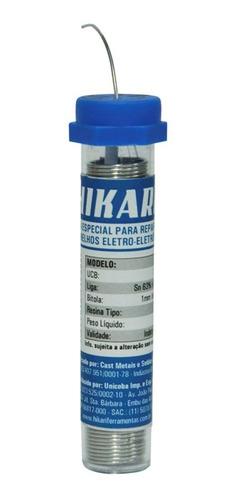 Solda Estanho Tubo Tubete 22g 1mm Sn63% Pb37% Hikari Hs-63