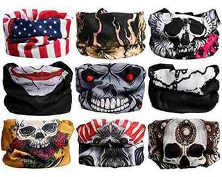 Landisun Headband (9pcs) Skulls Set2 Face Shield Bandanas Fa