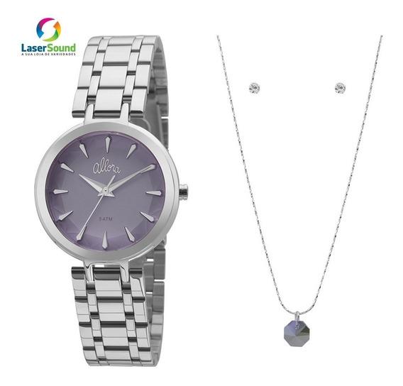 Relógio Allora Kit Feminino Al2036flm/k3a, C/garantia E Nf