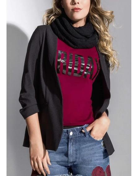 Saco Look Fashion Rock Mujer Sensual Semi Ajustada 1389098