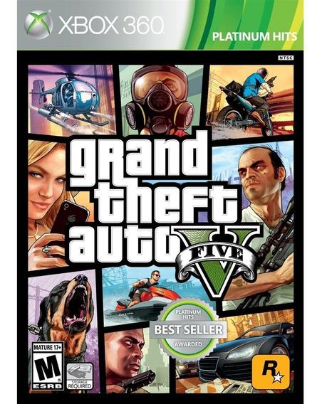 Grand Theft Auto V Gta 5 Xbox 360 Mídia Física Lacrado