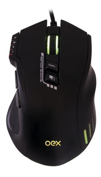 Mouse Gamer 8 Botões Macro 4000dpi Led Rgb Weapon Ms317 Oex