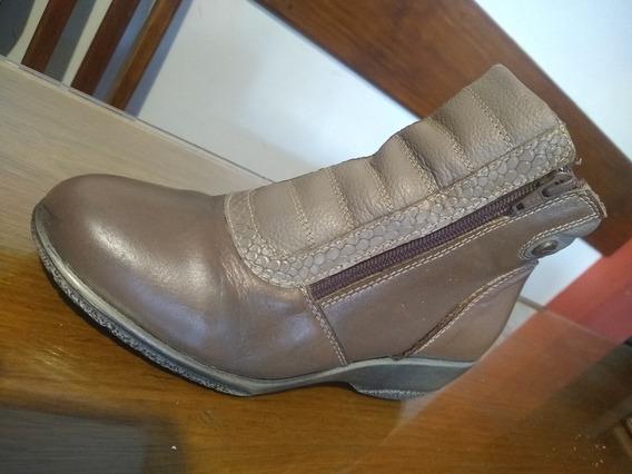 Zapato Bota Corta Dama Cuero Talle 36 Usado
