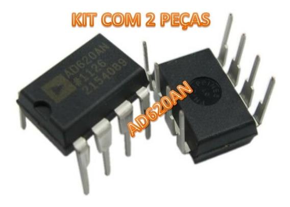 Ad620 Ad620an A. Operacional P/instrumentação Kit Com 2 Cis