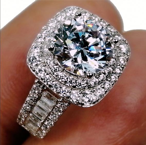 3.1ct Anillo Aniversario Diamante Cultivado Oro 14k/925