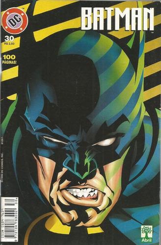 Imagem 1 de 1 de Batman 30 Dc Comics Editora Abril 1999