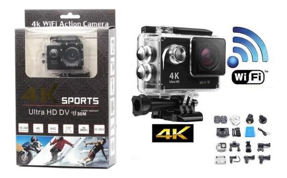 Ultra Câmera Action Drone Go Pro Sports 4k Wifi Prova Dágua