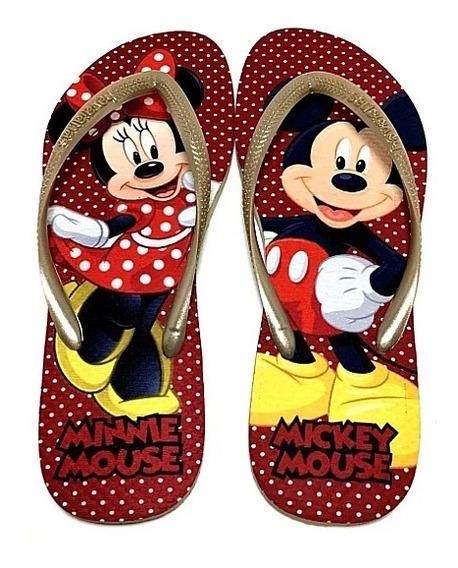 Chinelo Personalizadas Havaianas Minnie E Mickey Promoção