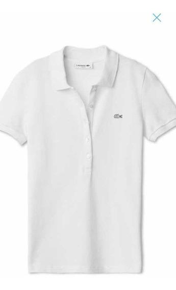 Camiseta Polo Original Lacoste Cor Branca