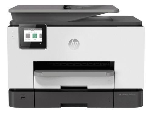 Imagem 1 de 4 de Impressora a cor multifuncional HP OfficeJet Pro 9020 com wifi branca e preta 100V/240V 1MR69C